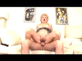 breasty shaggy golden-haired granny bonks