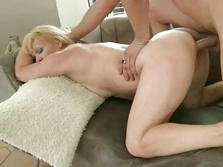 Sexy granny enjoys good fuck with young guy