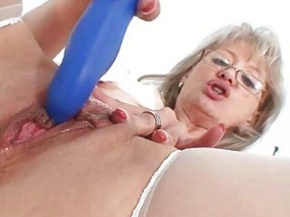 impure old mommy in nurse uniform wild