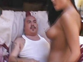 Cuckold wife fucks another man to shame her guy