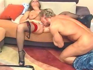 brunette hair engulfing and getting screwed