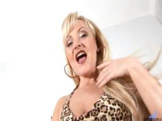 older mature blonde anal bead play