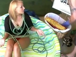 slutty milf strapped down for garage sale