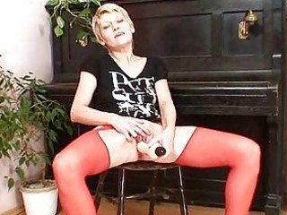 golden-haired mother i in red nylons perverted