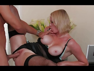 blond d like to fuck boss hayley sweats up a storm