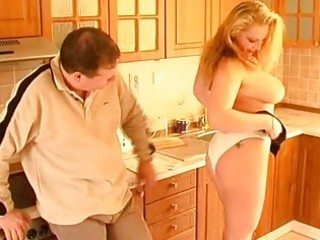 busty dilettante wife oral-sex titjob and cumshot