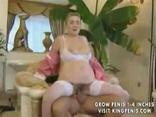 beatiful german cleaner granny receives anal by