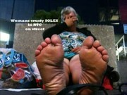 hot white older high arched feet
