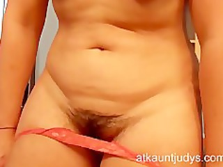 older secretary mila shows her cum-hole and