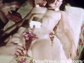 vintage porn 711105s - bushy cunt brunette hair
