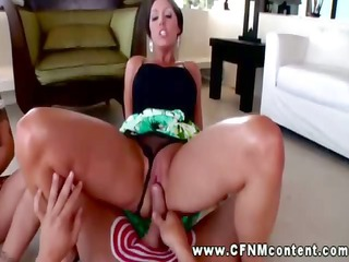 cfnm chick grinding cookie on cock and can