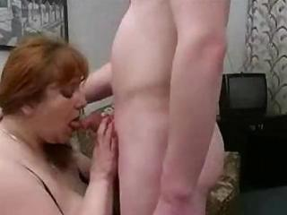 large mother i from europe sucks on a ramrod and