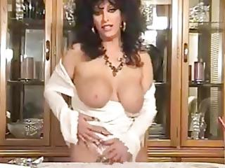 hot brunette hair cougar smoking and teasing