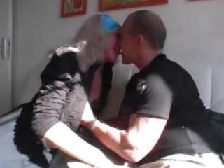 german granny gets trio love from a younger stud