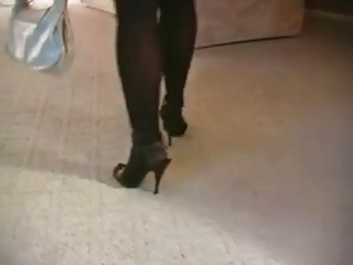 sexy blond d like to fuck smokin in stockings and