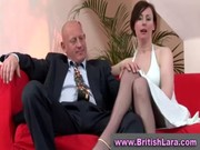 older british lady in nylons is licked by