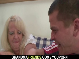 partying lads lure granny into three-some