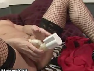 sexually excited older lady with hawt part1