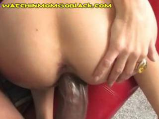 lascivious dark brown mom teaches son a lesson