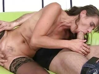 grandma does oral pleasure and gets screwed