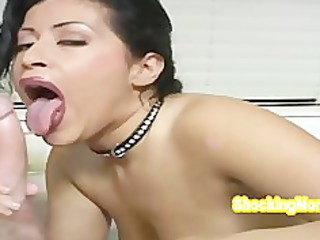 hot latin chick milf so excited