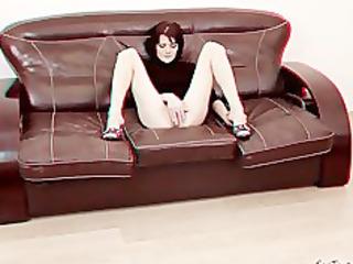 Shy MILF fisting 3D porn backstage