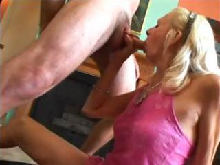 blonde granny with a shaggy bush acquires nailed