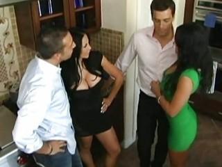 husbands exchange wives before dinner