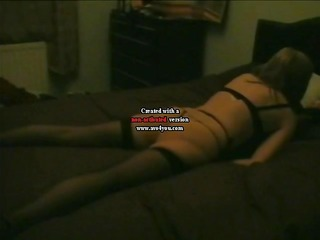 Awesome horny wife caught grinding out real orgasm