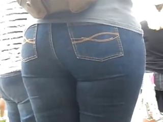 milf aged in tight jeans large ass arse mama cool