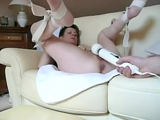 naughty hotty getting vibrated in filthy cleft