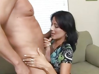 hawt dark brown cougar zoey holloway bangs hard