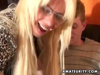juvenile dilettante boy enjoys a naughty breasty