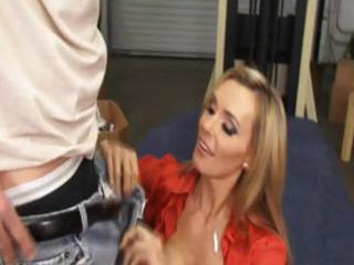 taut blond milf office fuck