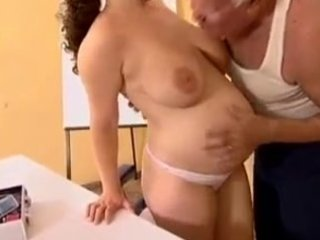 preggy - older man mireck and pregnant wench