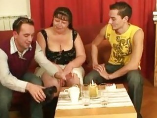 laughable dudes group-sex aged fatt...