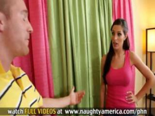 hot brunette hair mother i kortney kane gets down