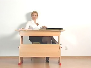 kirsty blue - studying in the office