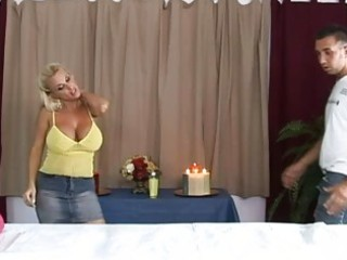 hot busty golden-haired d like to fuck getting a