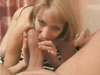 hot blonde mama is sucking the hell out of dads