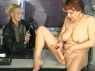 German interviewer helps milf masturbate  clip