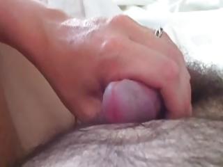 my wife renate strokes my weenie untill final drop