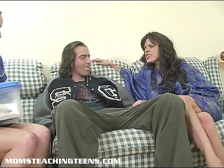 mommy teaching teen how to engulf and fuck