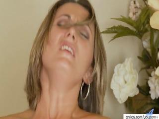 golden-haired milf thick cum facial