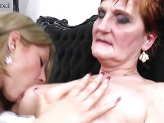 grandma teaching youthful angel a lesbian love