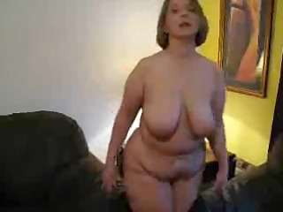 brit older housewife showing off