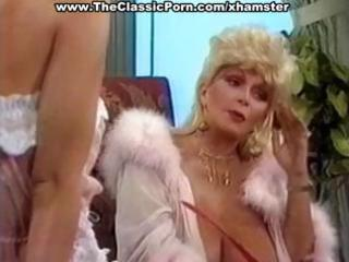breasty older classic blonde star gives a sexy