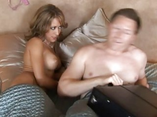 nice-looking horny golden-haired wife with big