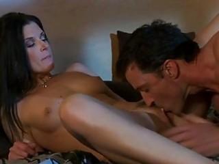 dark haired milf in red hawt underware does 93 in