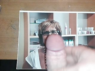Cum on a German Mature